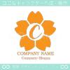 C文字,桜,さくら,フラワー,花のイメージのロゴマークデザイン