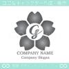 G文字,さくら,桜,花,フラワーをモチーフのロゴマークデザインです。