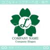 文字L,桜,さくら,フラワー,花のイメージのロゴマークデザイン