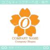 O文字,桜,さくら,フラワー,花のイメージのロゴマークデザイン