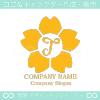 T文字,さくら,桜,花,フラワーをモチーフのロゴマークデザインです。
