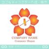文字X,桜,さくら,フラワー,花のイメージのロゴマークデザイン