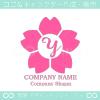 Y文字,さくら,桜,花,フラワーをモチーフのロゴマークデザインです。