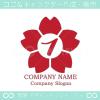 1数字,桜,さくら,フラワー,花のイメージのロゴマークデザイン
