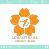 1周年記念,桜,さくら,花,フラワーの可愛いのロゴマークデザイン