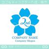2周年記念,桜,さくら,花,フラワーの可愛いのロゴマークデザイン