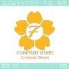 数字7,桜,さくら,フラワー,花をモチーフのロゴマークデザイン