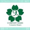 9周年記念,桜,さくら,花,フラワーの可愛いのロゴマークデザイン