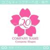 20数字,桜,さくら,フラワー,花をモチーフのロゴマークデザイン