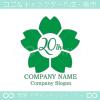 20周年記念,桜,さくら,花,フラワーの可愛いのロゴマークデザイン