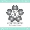 数字30,桜,さくら,フラワー,花のイメージのロゴマークデザイン