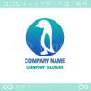 ペンギンをイメージしたキャラクター系ロゴマークデザインです。