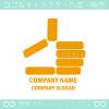 ベリーグッド,手をイメージしたロゴマークデザインです。