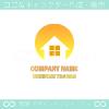 家,太陽をイメージしたロゴマークデザインです。