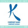Kアルファベット,青のイメージのロゴマークデザインです。