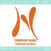 Nアルファベット,黄色のイメージのロゴマークデザインです。