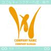 Wアルファベット,黄色のイメージのロゴマークデザインです。