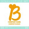 Bアルファベット,ハートのイメージのロゴマークデザインです。