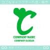 Cアルファベット,ハートのイメージのロゴマークデザインです。
