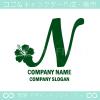 Nアルファベット,ハイビスカスのイメージのロゴマークデザインです。