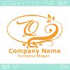 Qアルファベット,リーフ,幸運のイメージのロゴマークデザインです。