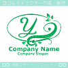 Yアルファベット,リーフ,幸運のイメージのロゴマークデザインです。