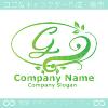 Gアルファベット,リーフ,幸運のイメージのロゴマークデザインです。