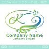 Kアルファベット,リーフ,幸運のイメージのロゴマークデザインです。