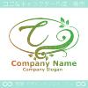 Cアルファベット,リーフ,幸運のイメージのロゴマークデザインです。