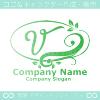 Vアルファベット,リーフ,幸運のイメージのロゴマークデザインです。
