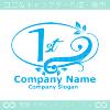 1周年記念,リーフ,幸運のイメージのロゴマークデザインです。