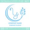 Y文字,リーフ,ユニークなイメージのロゴマークデザインです。
