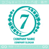数字7,四葉のクローバー,幸運をモチーフのロゴマークデザイン