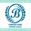 Bアルファベット,幸運,四葉のクローバーのロゴマークデザインです。