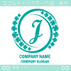 Jアルファベット,幸運,四葉のクローバーのロゴマークデザインです。