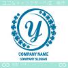 Yアルファベット,幸運,四葉のクローバーのロゴマークデザインです。