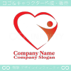 ハート,人間,愛をイメージしたロゴマークデザインです。