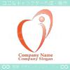 ハート,人,愛のイメージのロゴマークデザインです。