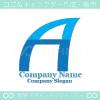 A文字,海,ヨットのイメージのロゴマークデザインです。