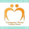 ハート,人間,愛がイメージのロゴマークデザインです。