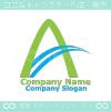 A文字,山,川をイメージしたロゴマークデザインです。