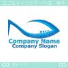 魚,シェードをイメージしたロゴマークデザインです。
