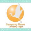 つる,鶴,ツルのイメージのロゴマークデザインです。