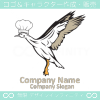 シェフ,鳥のキャラクター系のロゴマークデザインです。
