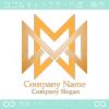 無限大,文字M,∞をイメージしたロゴマークデザインです。