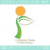 F文字,リーフ,太陽をイメージしたロゴマークデザインです。