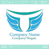 T文字,翼,ウイングをイメージしたロゴマークデザインです。
