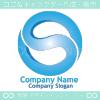 アルファベットS,無限大のイメージのロゴマークデザインです。