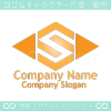 S,アルファベット,ダイヤモンドのイメージのロゴマークデザインです。