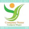 Y文字,太陽,リーフ,人のイメージのロゴマークデザインです。